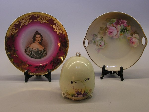 16: Royal Bayreuth Portrait Plate and Others