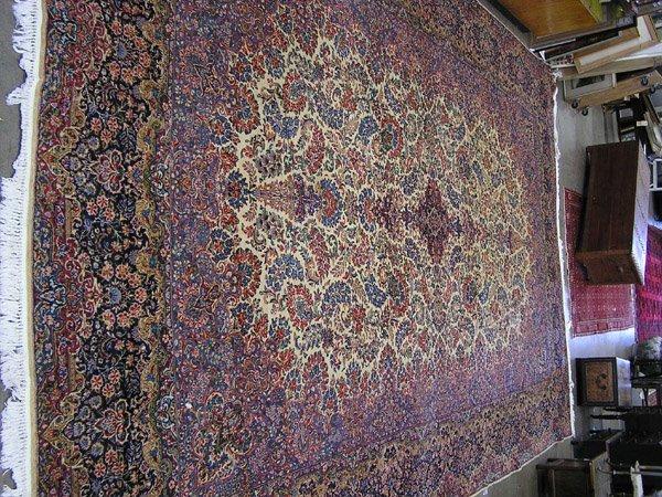 182: Antique Persian Kerman rug