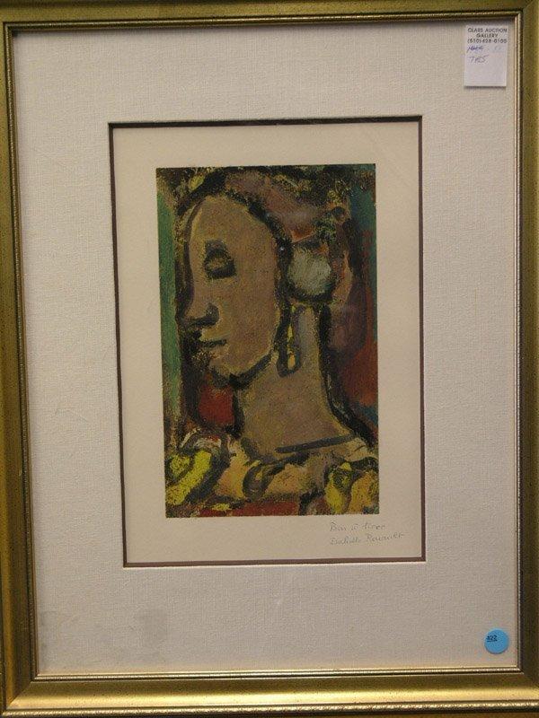 422: Daniel Jacomet, pochoir, Picasso, Rouault