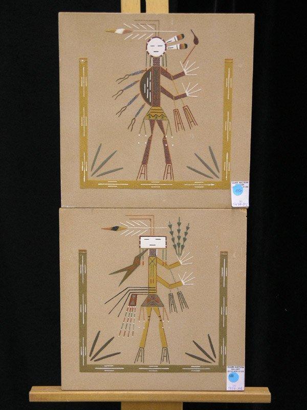 432: John L. Begay, Navajo sand paintings
