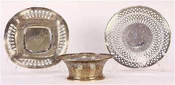 (lot of 3) American sterling silver hollowware group,
