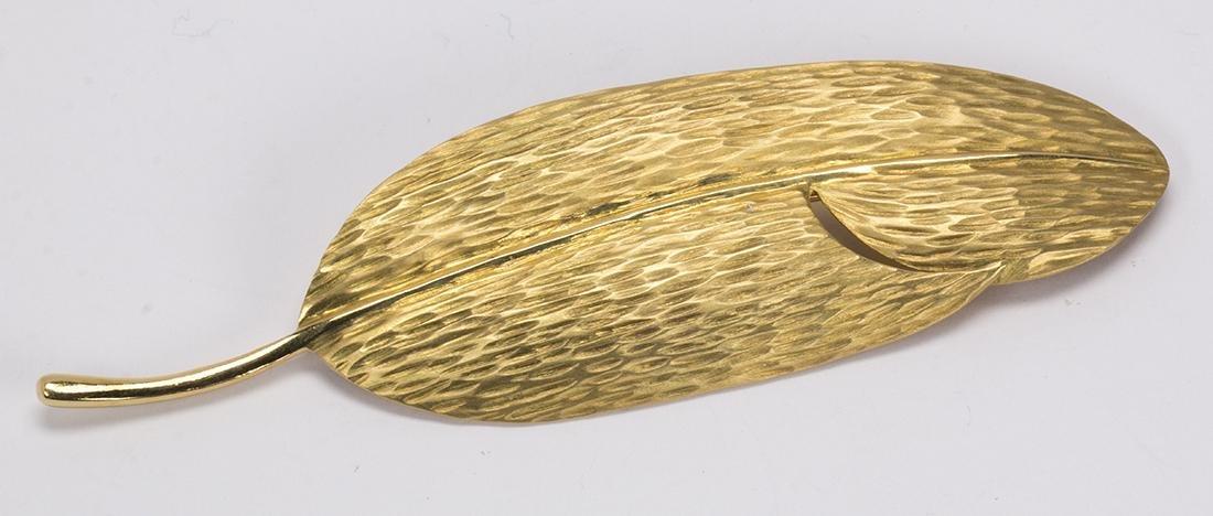Tiffany & Co. Angela Cummings 18k yellow gold leaf