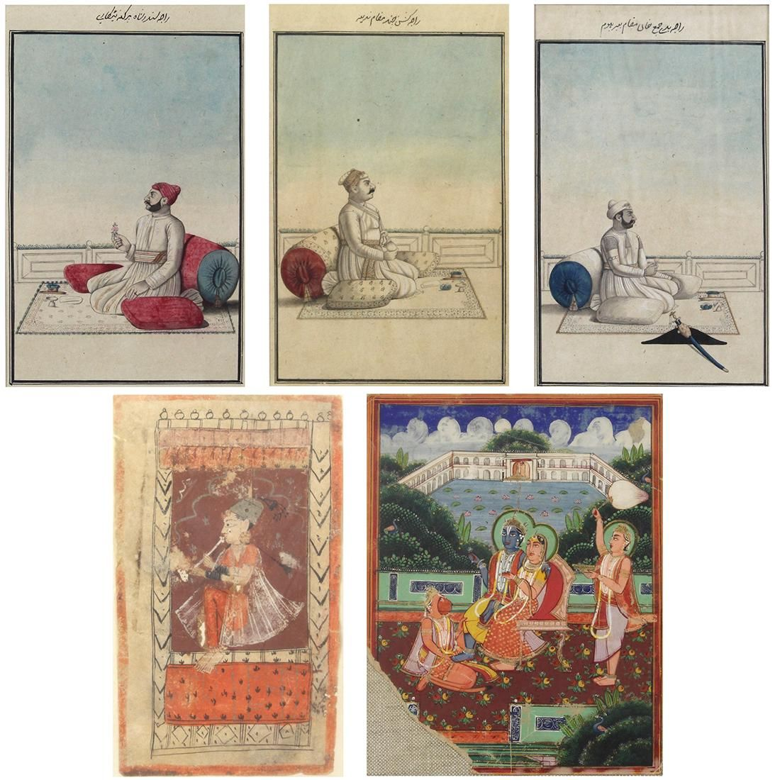 Indian Miniature Paintings, Portraits of Maharaja