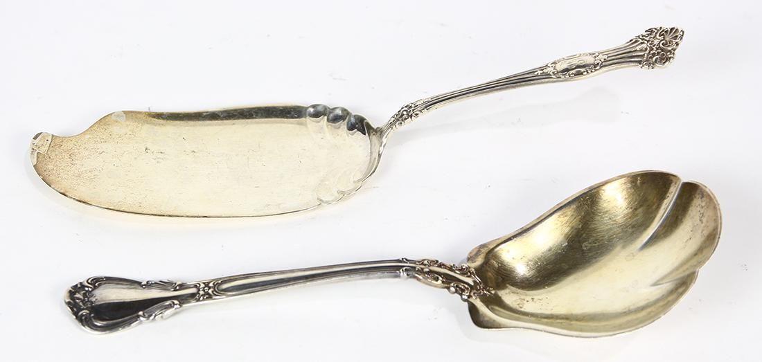 (lot of 2) American sterling silver utensils