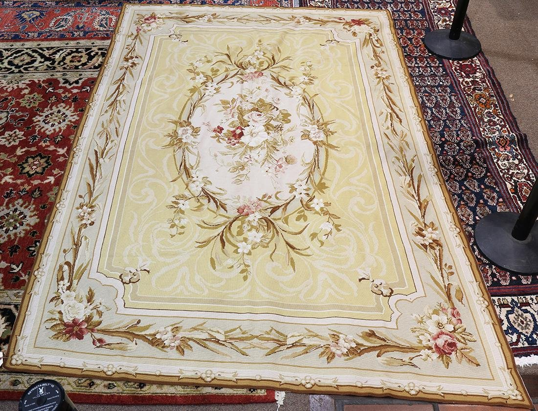 """Aubusson style floral tapestry, 8'9"""" x 6'"""