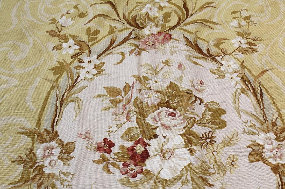 """Aubusson style floral tapestry, 8'9"""" x 6' - 2"""