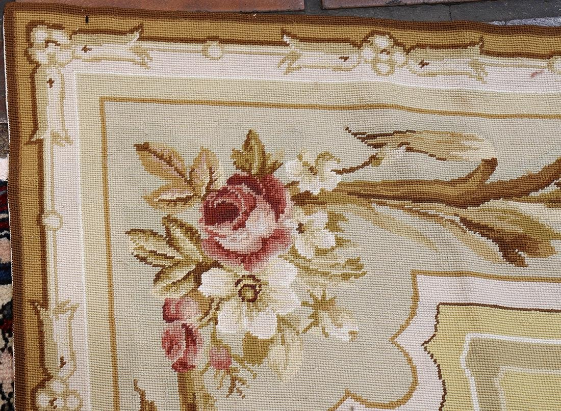 """Aubusson style floral tapestry, 8'9"""" x 6' - 3"""