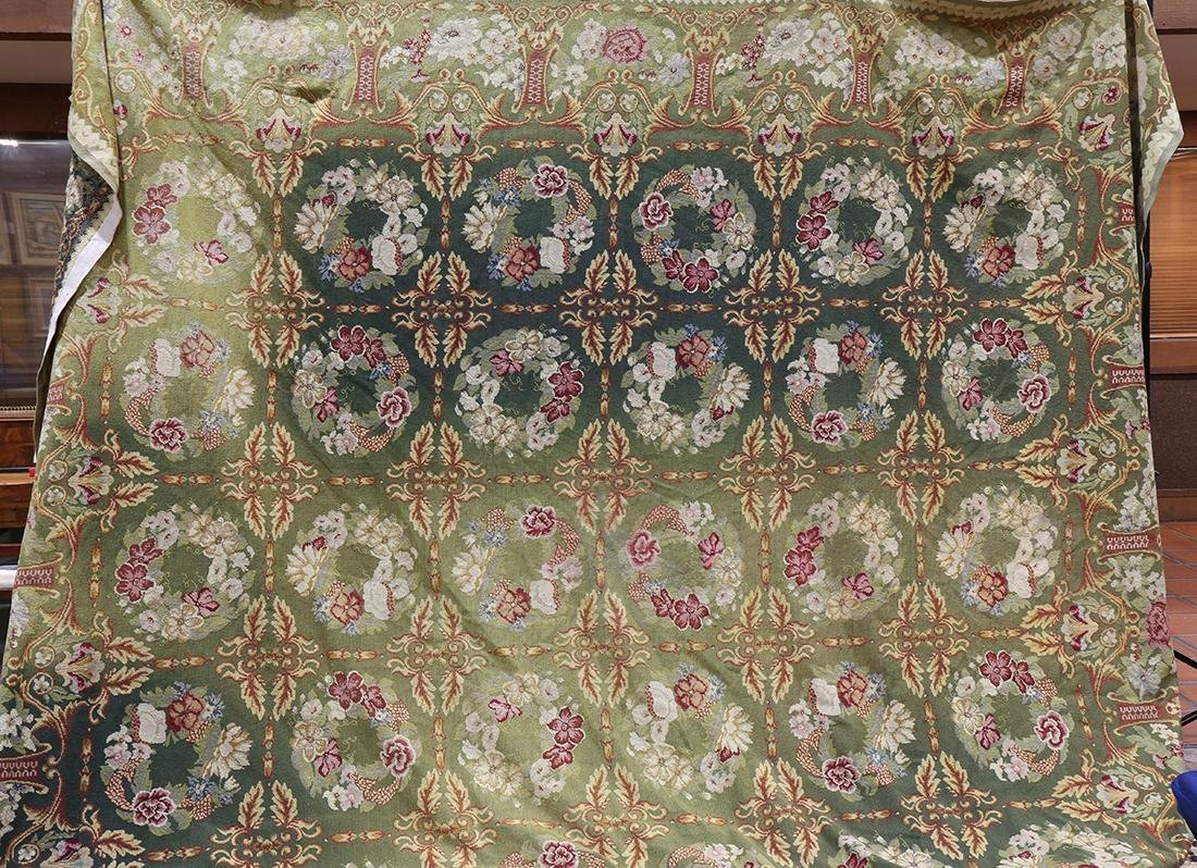 """Large Aubusson style floral tapestry, 11' x 17'1"""""""