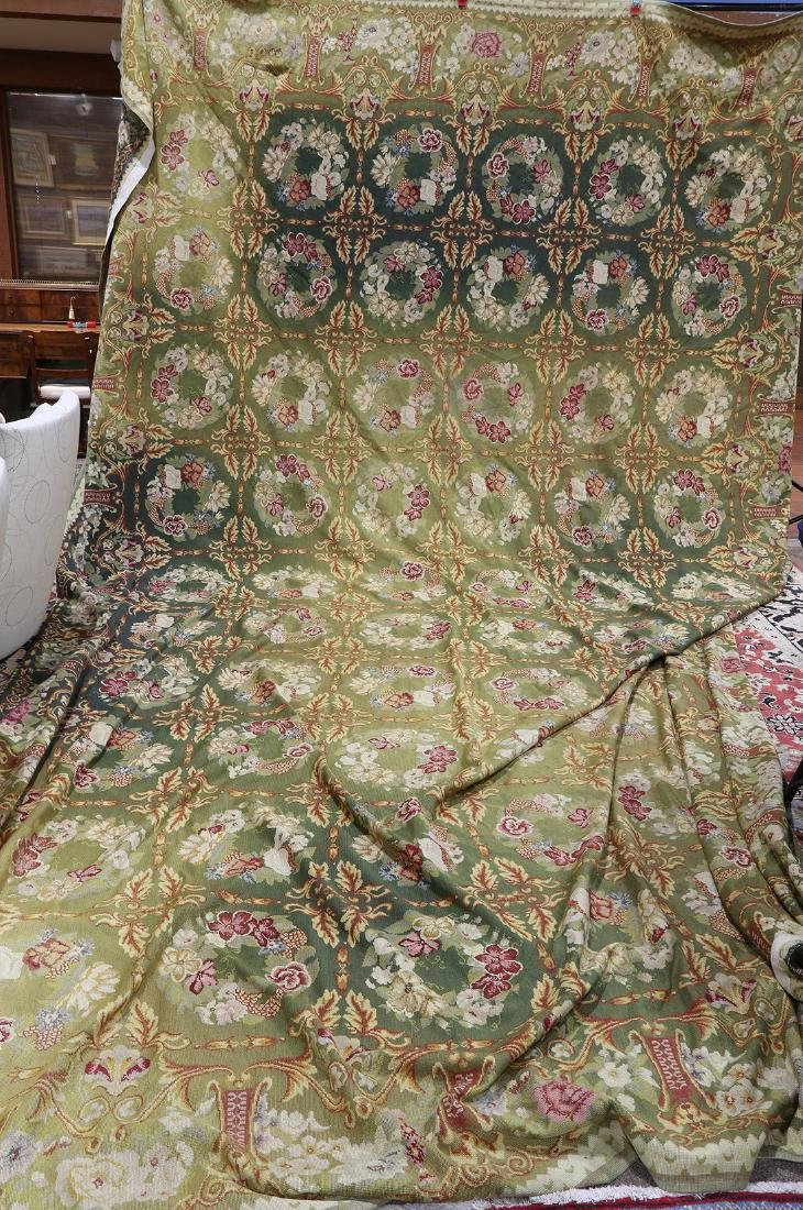 """Large Aubusson style floral tapestry, 11' x 17'1"""" - 2"""