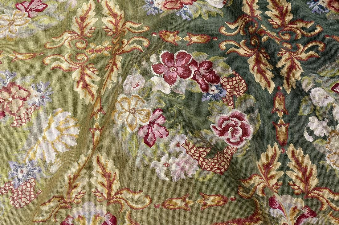 """Large Aubusson style floral tapestry, 11' x 17'1"""" - 3"""