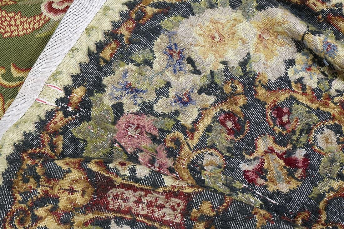 """Large Aubusson style floral tapestry, 11' x 17'1"""" - 4"""