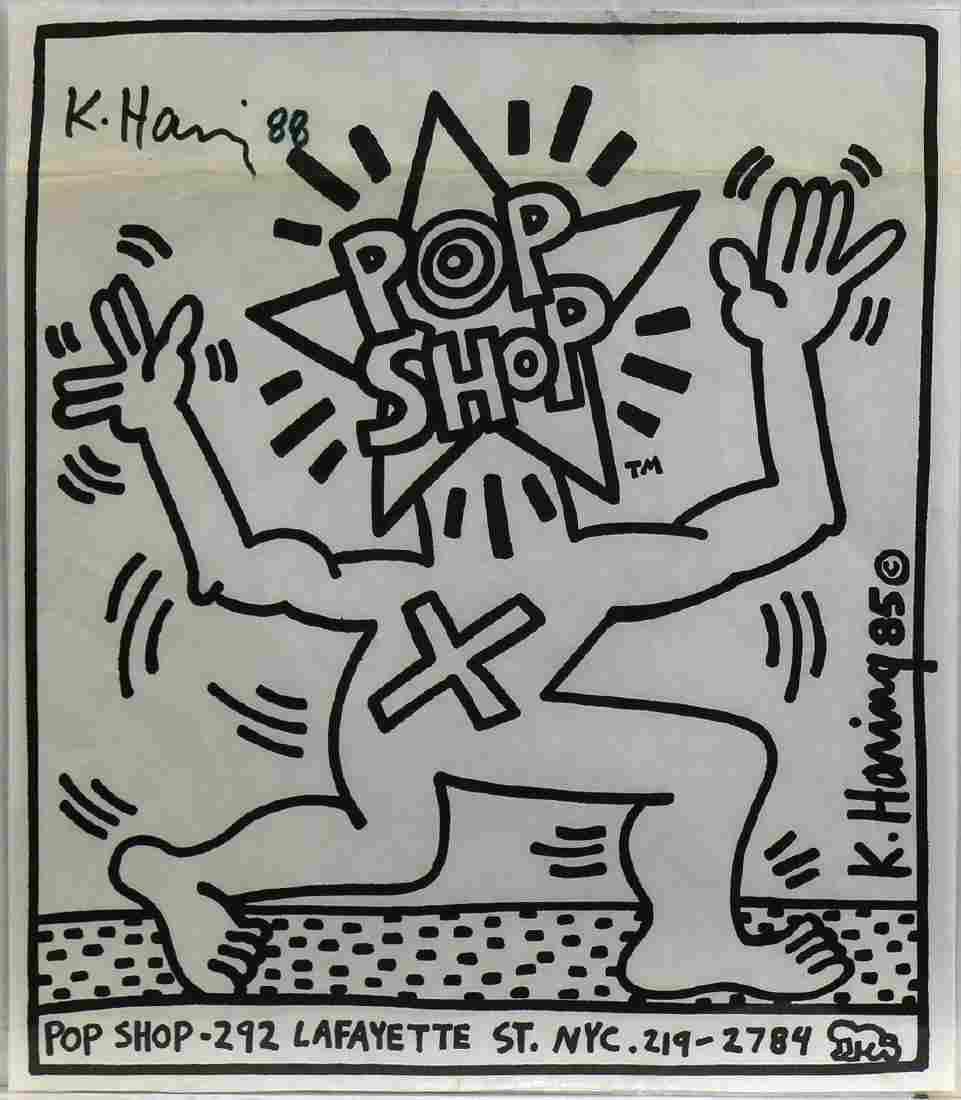 Print, Keith Haring, Pop Shop, 1985
