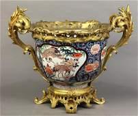 Japanese Imari Bowl in Ormolu Mounts, Meiji
