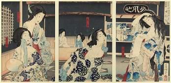 Japanese Woodblock Prints Yoshitoshi 19c