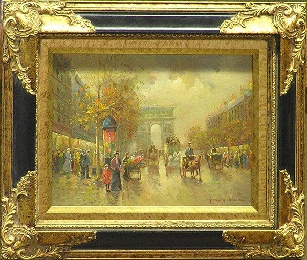 4006: Painting Paris genre Pencke French
