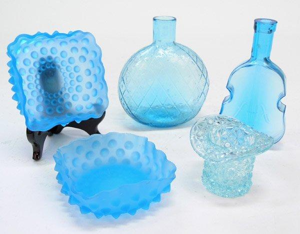 4011: Art glass satin glass hobnail