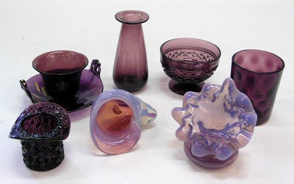 4014: Victorian amethyst glass tumbler