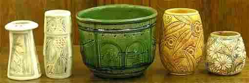 6155 Weller art pottery Missions jardiniere