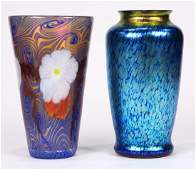(lot of 2) Lundberg Studios vase group