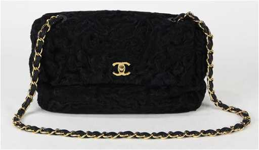 0eff91fbab18 Chanel Persian lamb medium flap handbag, executed in