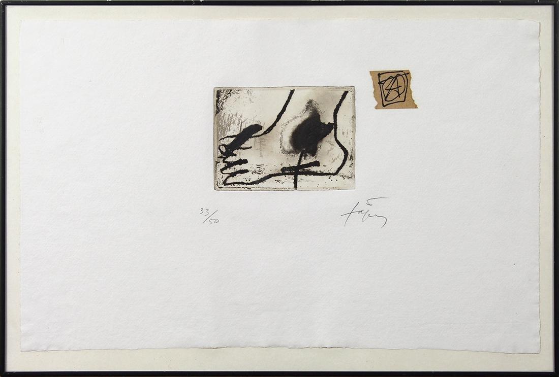 Print, Antoni Tapies