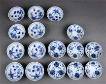 Sets of Chinese Blue-and-White Sauce Dishes,