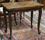 French Provincial style oak drop leaf table