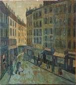 Painting Street Scene with Figures 1959