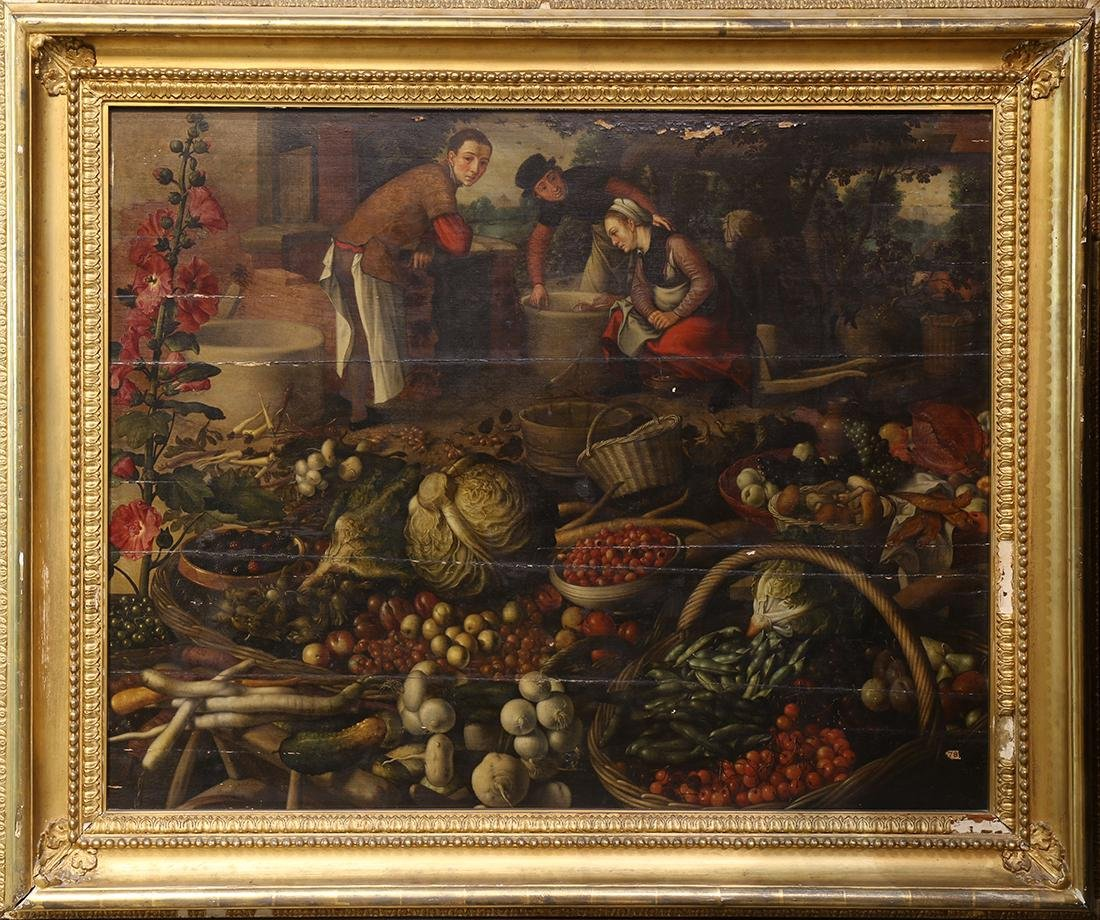 Painting, Preparing the Feast