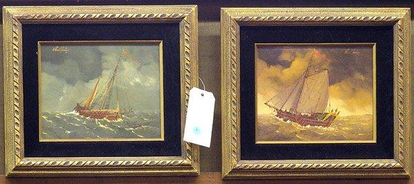 5: Paintings Maritime Scenes Ships