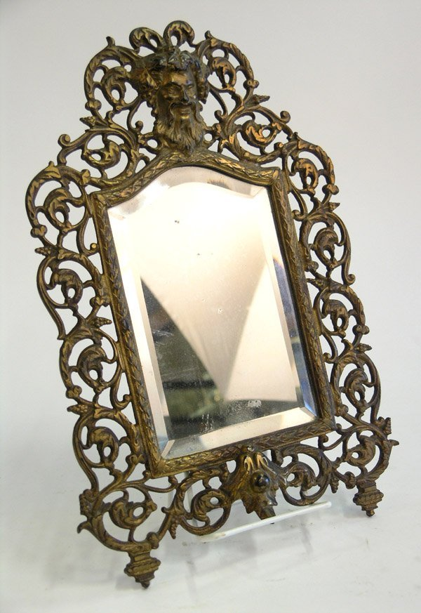 9: Bradley and Hubbard gilt brass mirror