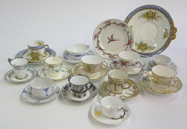 13: Porcelain demitasse tea cups Limoges