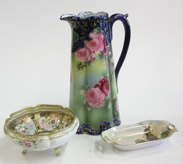 14: Hand-painted Nippon porcelain pitcher