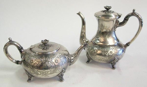 24: Silverplate coffee teapots