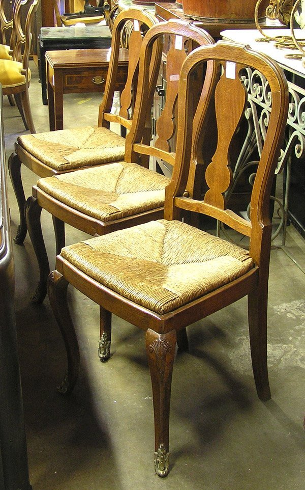 260: French style oak dining chairs