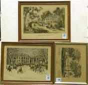 424 Lithograph Currier Ives Landscape