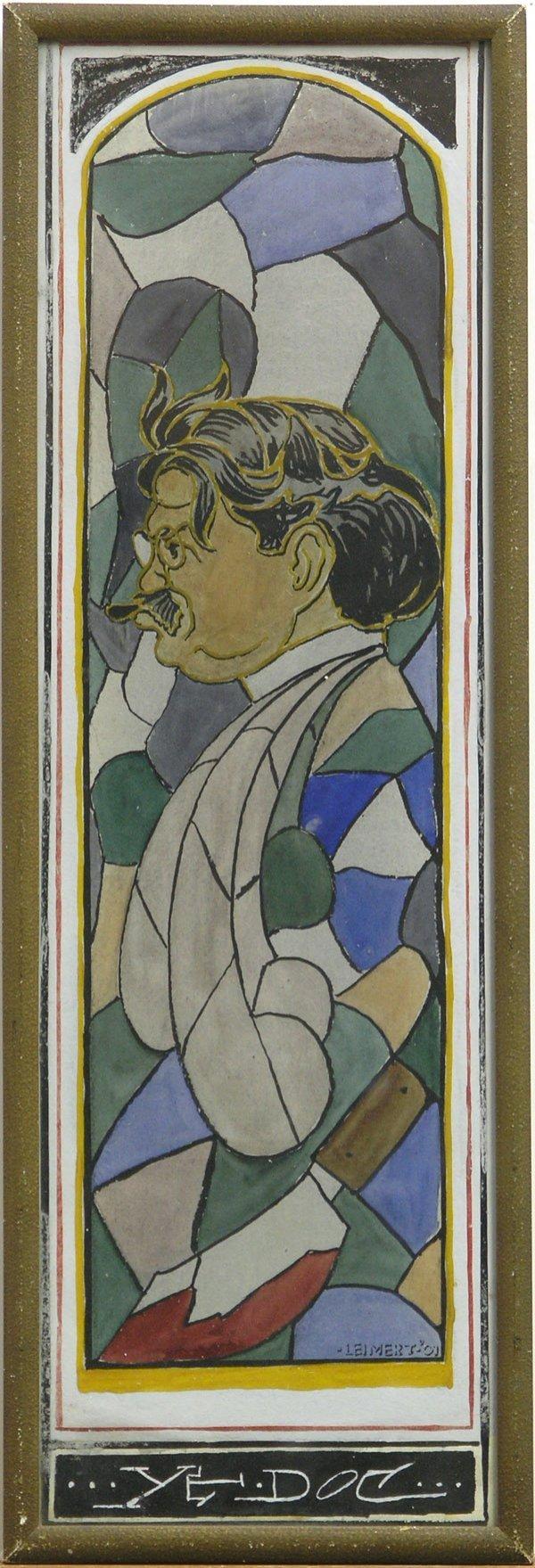 2002: Gouache, Portrait, Leimert Californian