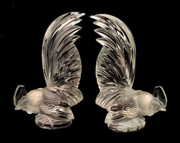 2017: Lalique art glass cockerel ''Coq Nain''