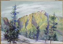 2168: Painting Louise Noack Gray Californian