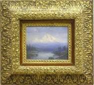 2343 Painting Shasta Californian Landscape