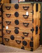 Japanese Isho Two-part Tansu Chest