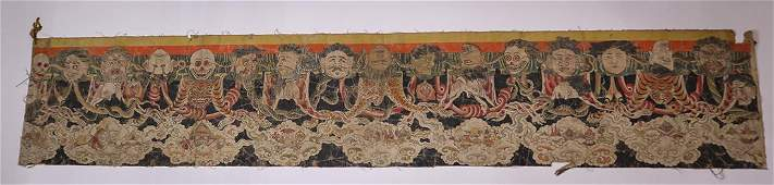 Fragment of Himalayan Black Thangka