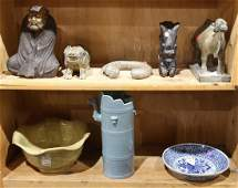 Chinese Stone Carvings and Ceramics