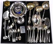 (lot of 35) American and Continental sterling silver