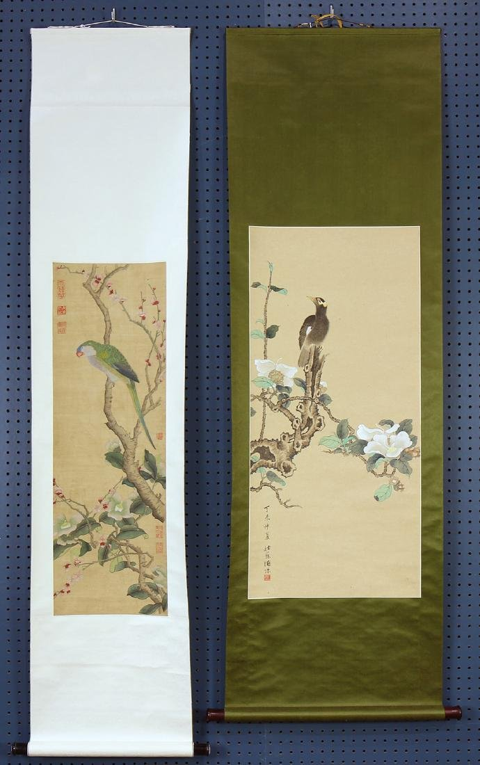 Chinese Scrolls, Puzhu, Birds-and-Flowers