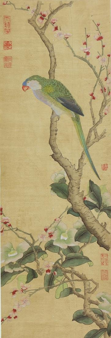 Chinese Scrolls, Puzhu, Birds-and-Flowers - 3