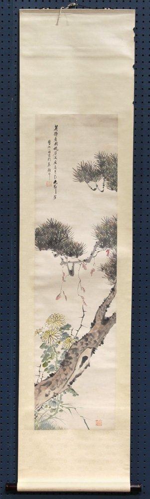 Chinese Scrolls, Manner of Qi Baishi, Chrysanthemums - 2