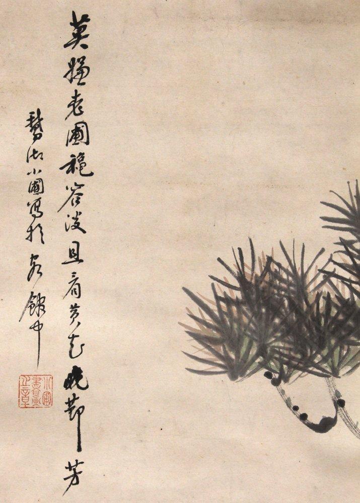 Chinese Scrolls, Manner of Qi Baishi, Chrysanthemums - 4