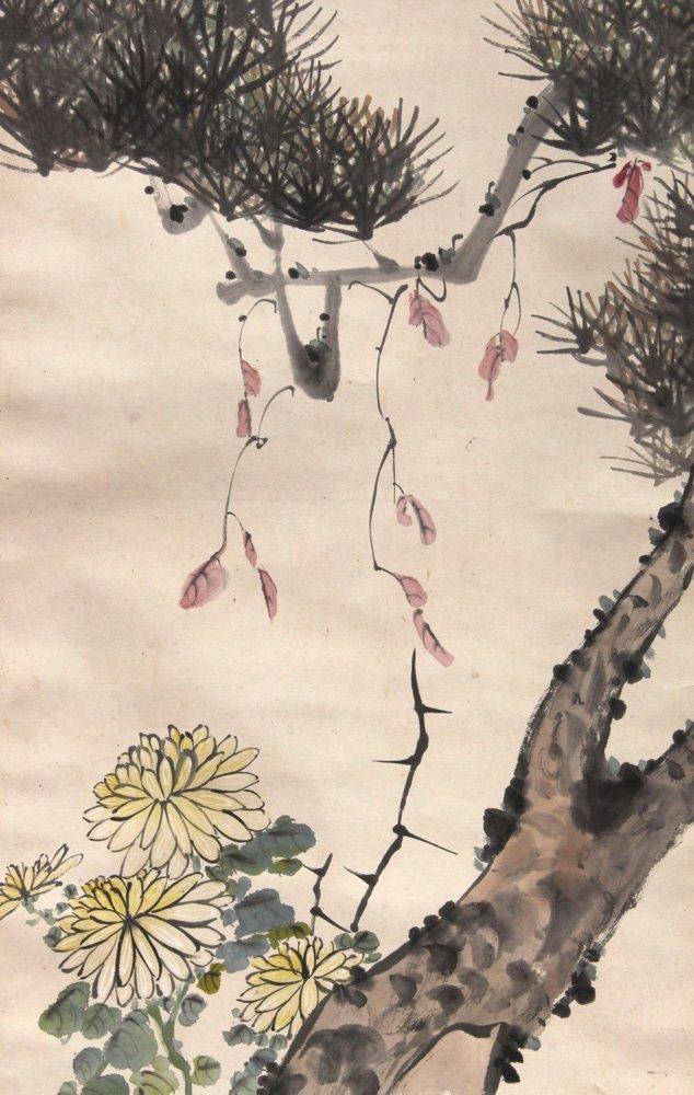 Chinese Scrolls, Manner of Qi Baishi, Chrysanthemums - 5