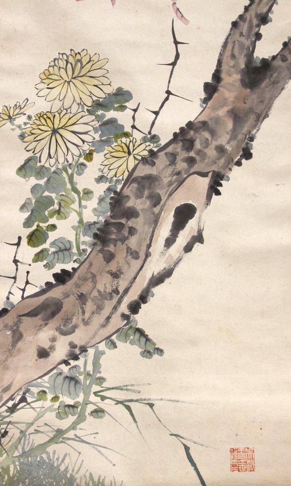 Chinese Scrolls, Manner of Qi Baishi, Chrysanthemums - 6